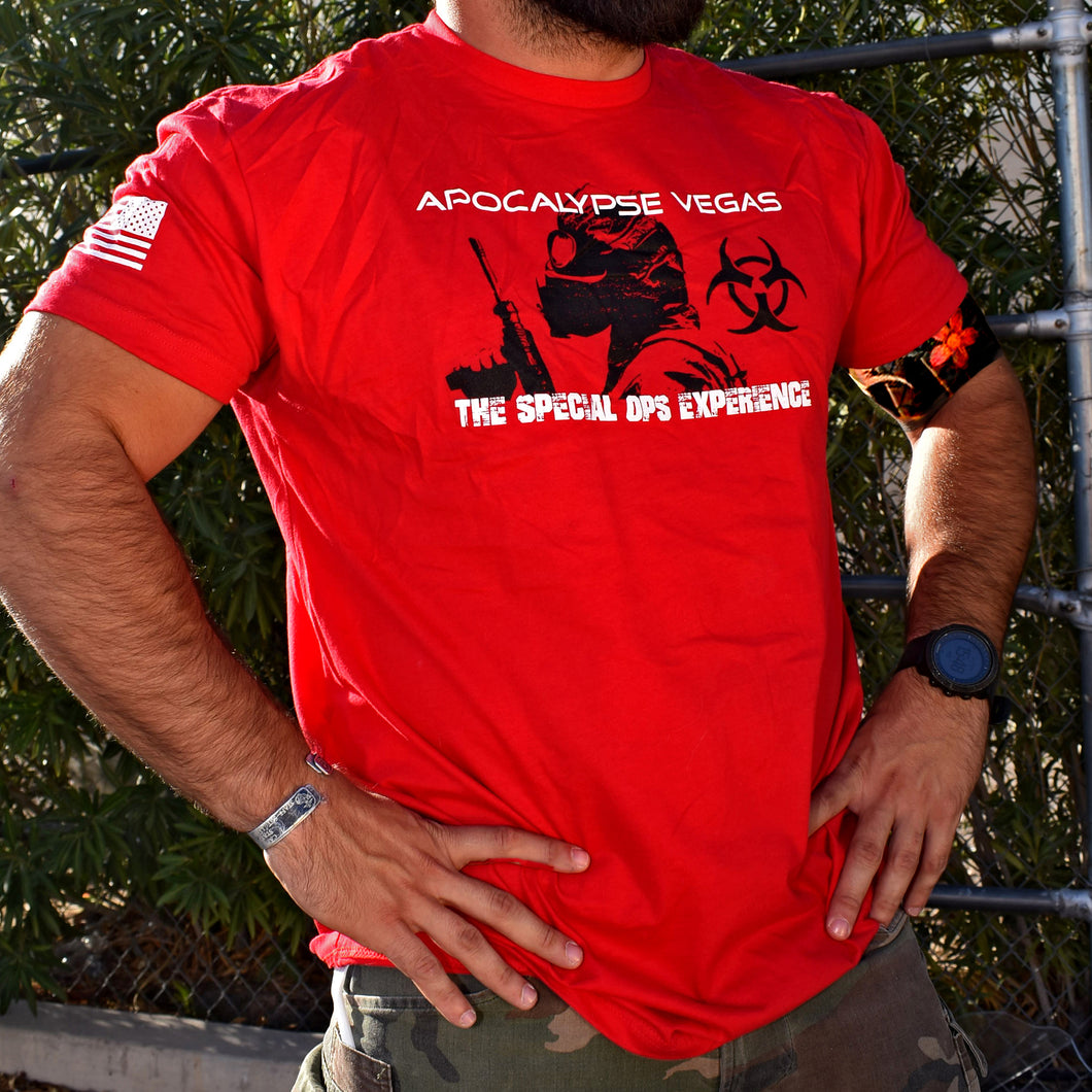 Apocalypse Survivor T-Shirt (Red) - Apocalypse Vegas