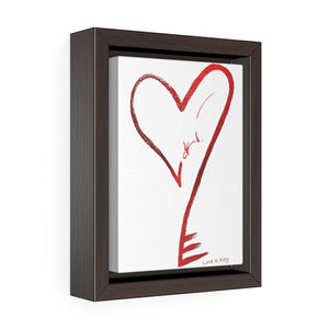 "Heartkey ""Paint Stroke"" Vertical Framed Premium Gallery Wrap Canvas"