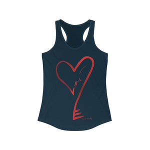 "Heartkey ""Paint Stroke"" Women's Ideal Racerback Tank"