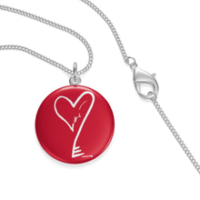 Load image into Gallery viewer, Single Loop Rectangular Pendant Heartkey Necklace