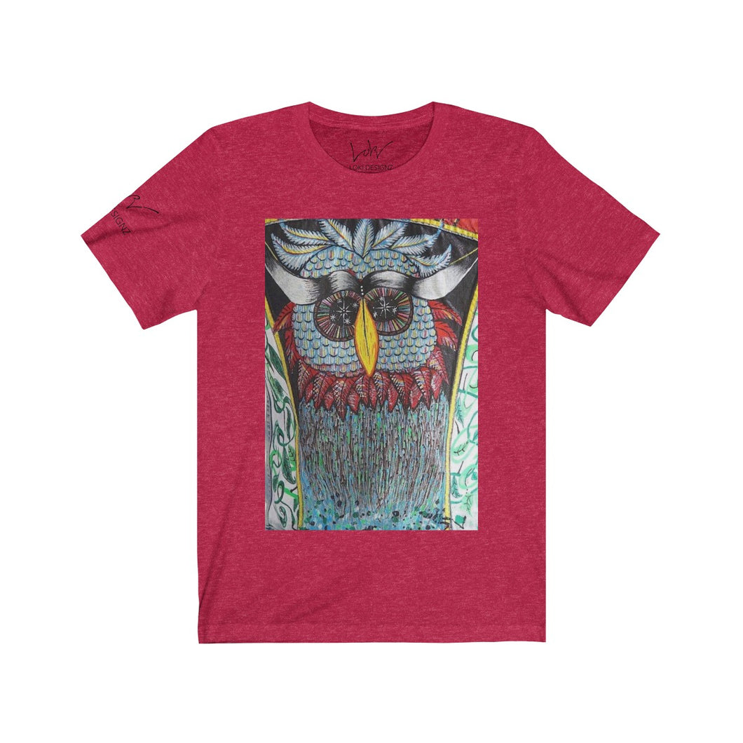 LOKI OWL Red Short Sleeve Tee