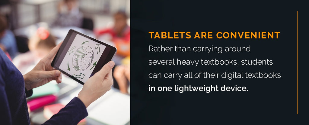 tablets are convenient