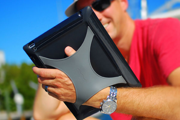 The silicone x strap provides a confident, worry-free hold of your tablet.