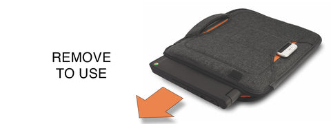 Remove to use laptop cases