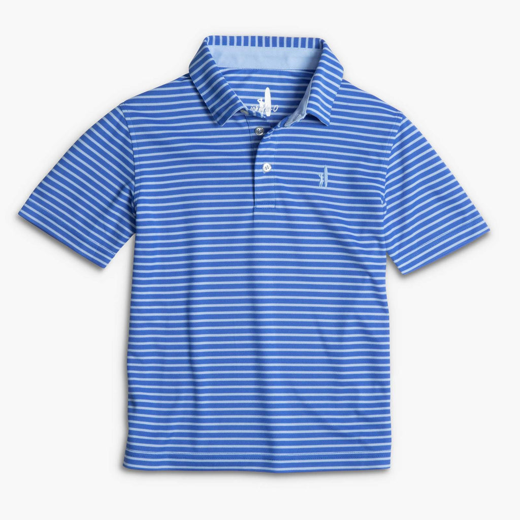 Johnnie-O Linus Prep-FORMANCE Dual Stripe Jr. Polo (Marlin)
