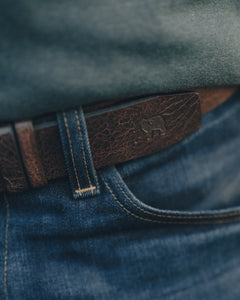 THE NORMAL BRAND GLAZED LEATHER BELT