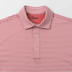 OXFORD DOWLING COOLMAX STRIPE JERSEY POLO