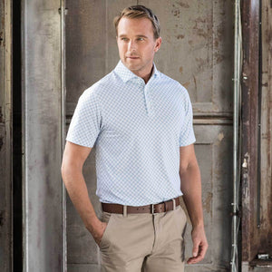OXFORD KNOLL DRIRELEASE PRINTED JERSEY POLO