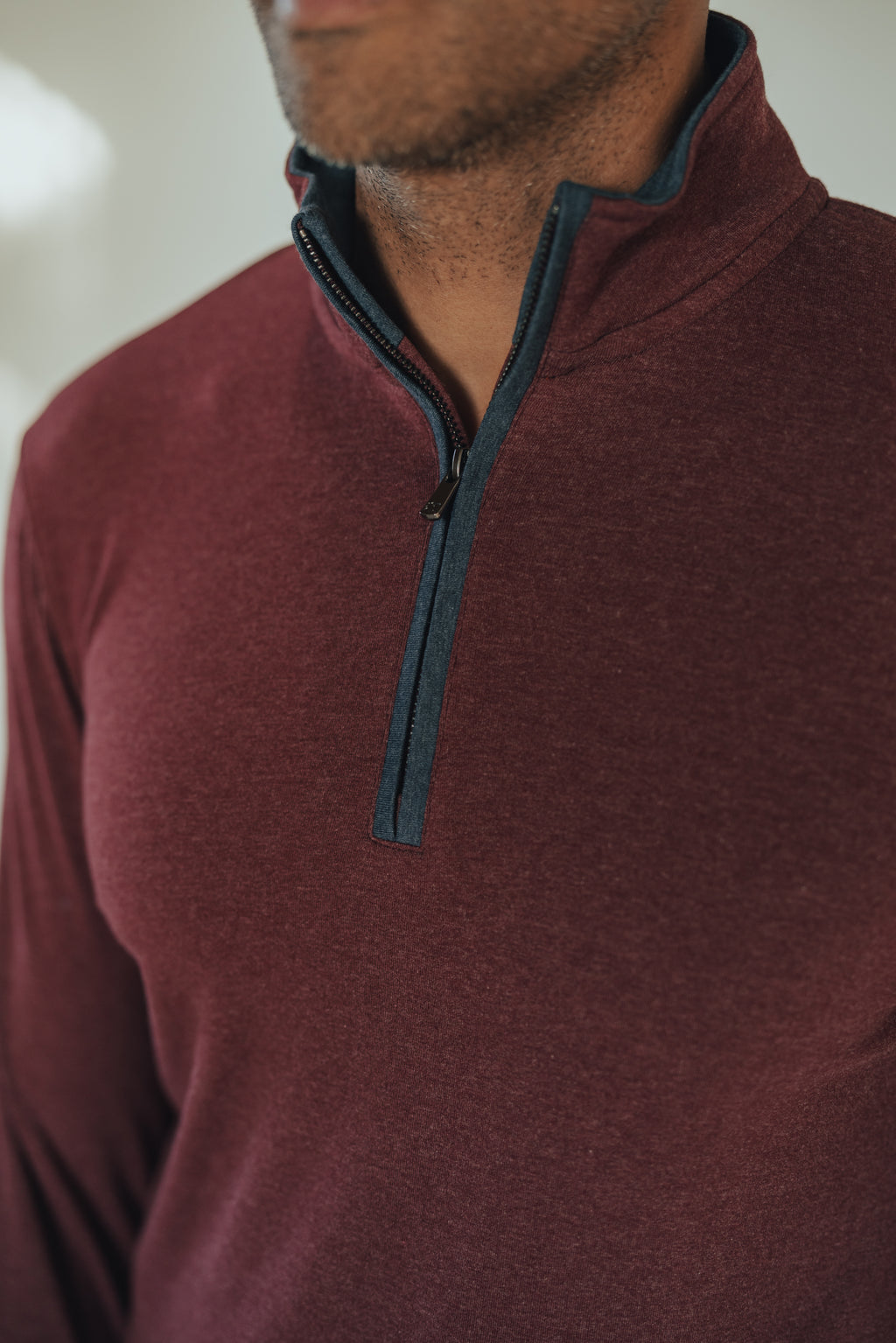 THE NORMAL BRAND PUREMESO QUARTER ZIP PULLOVER