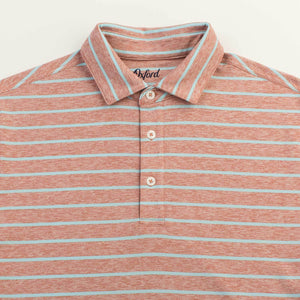 OXFORD WESTON PERFORMANCE HEATHER STRIPE JERSEY POLO