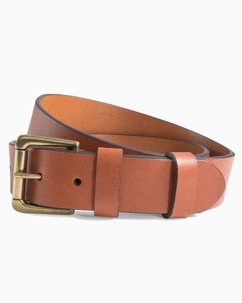 SOUTHERN TIDE LEATHER ST PATCH BELT
