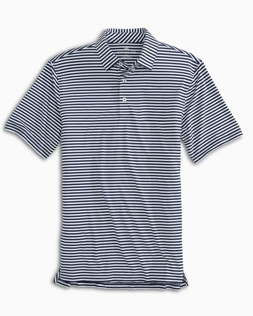 SOUTHERN TIDE TEAM COLORS STRIPED PERFORMANCE POLO