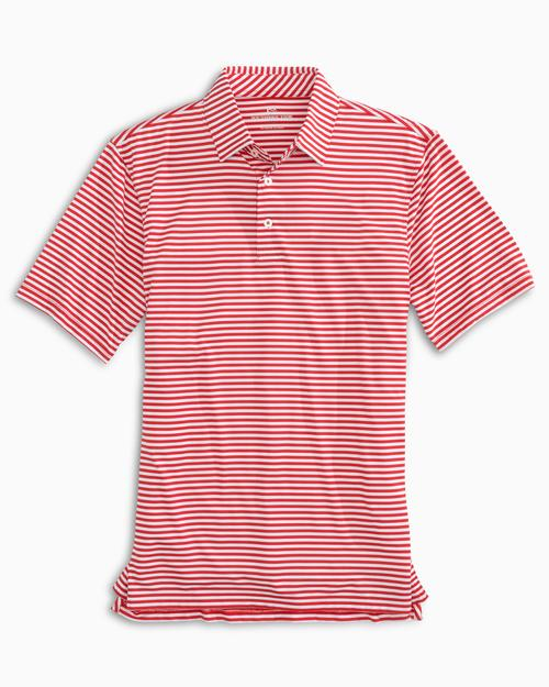 TEAM COLORS STRIPED PERFORMANCE POLO