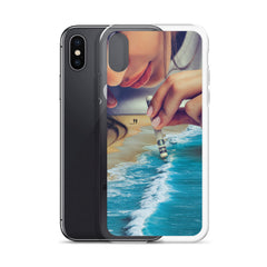 It comes in Waves iPhone Case