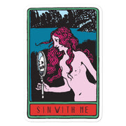 Sin With Me Kiss Cut Sticker