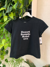 Load image into Gallery viewer, Desert Sounds Motel Crop Tee in Black