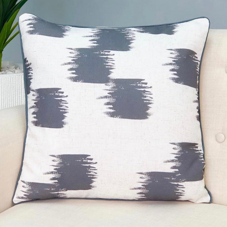 Brushstroke Gray Pillow