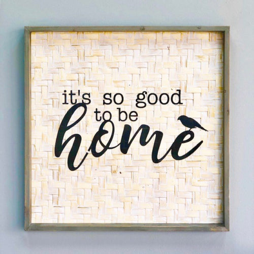 "Square ""Home"" Wooden Wall Art"