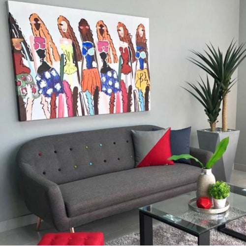 Empowered Women Oleo Canvas Art