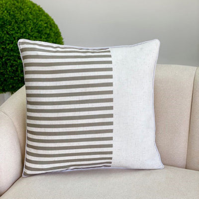 Sophy White and Gray Pillow