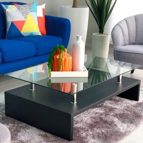 Millana Black Big Coffee Table