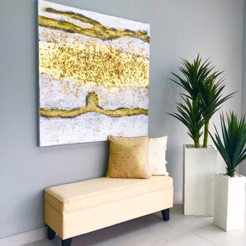 Golden Rush Modern Canvas Art