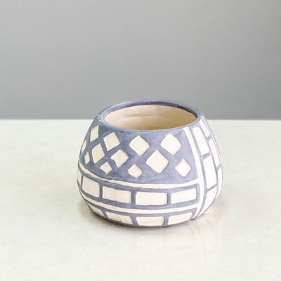 Small Selenium  Blue Ceramic Vase