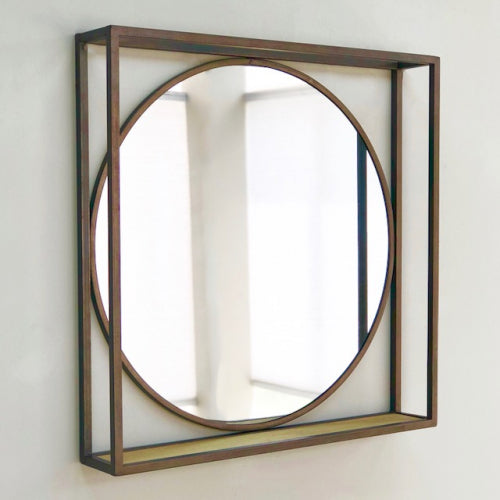 Tristan Square Wooden Clapboard Mirror
