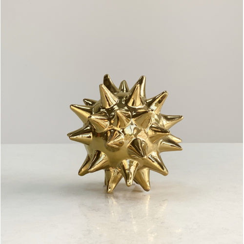 Small Ceramic Golden Round Urchin