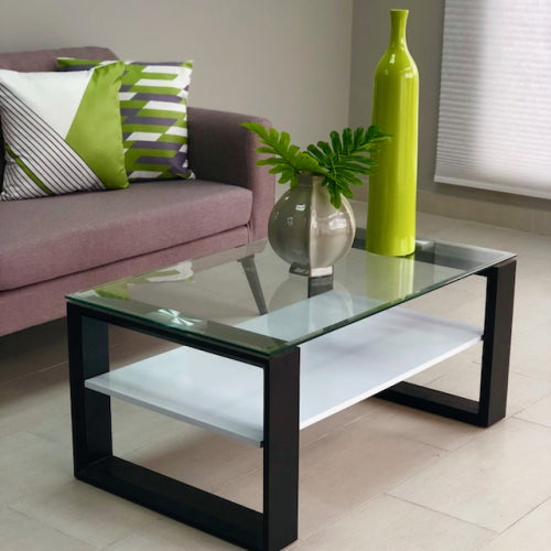 Zoa Black & White Coffee Table