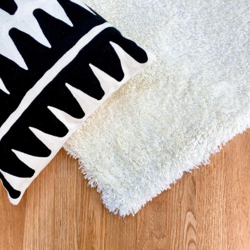 Express White With Silver Lurex Rug