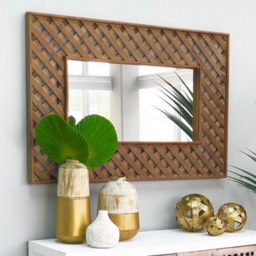 Eleonor Rustic Wall Wooden Mirror