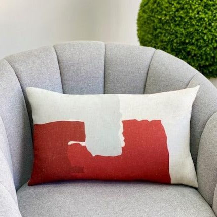 Rectangular Red & White Padding Pillow
