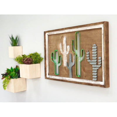 Dunton Metallic Cactus Wall Art