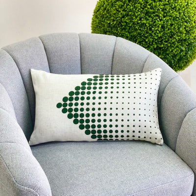 Rectangular Green Dots Padding Pillow