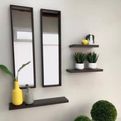 Rectangle Wooden Wengue Asher Mirror