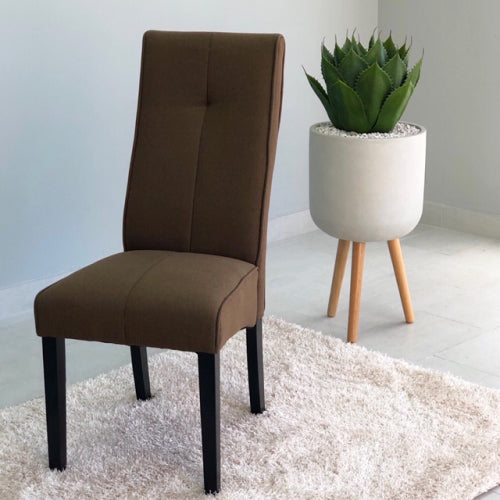 Teo Brown Padded Dining Chair