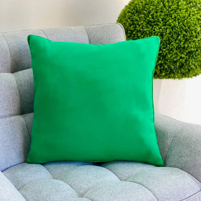 Green Solid Throw Pillow