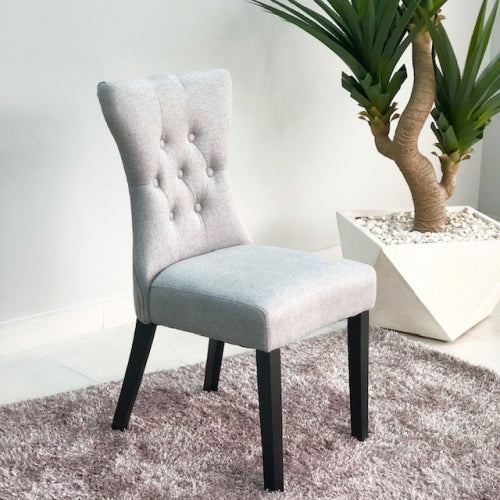 Elinor Gray Buttoms Dining Chair