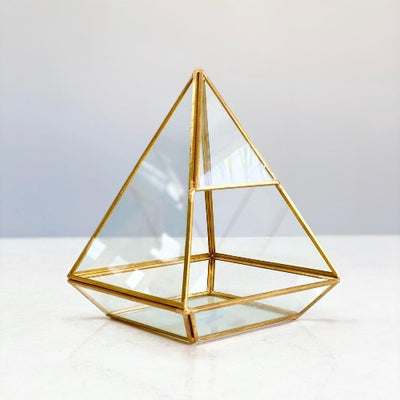 Cecilia Triangle  Glass & Metallic Edge