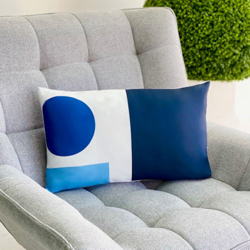 Geometric Cyane Long Throw Pillow