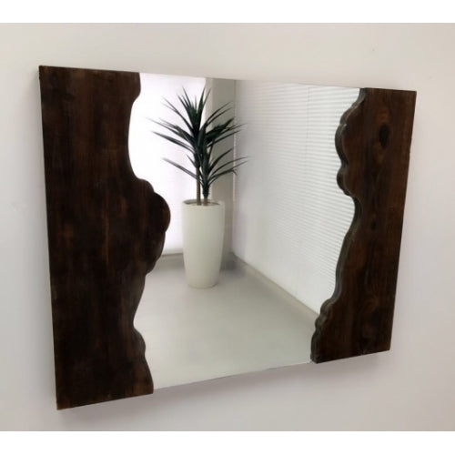 Gabrielle Rustic Wall Wooden Mirror