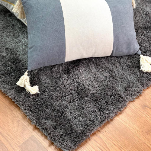 Express Gray With Silver Lurex Rug