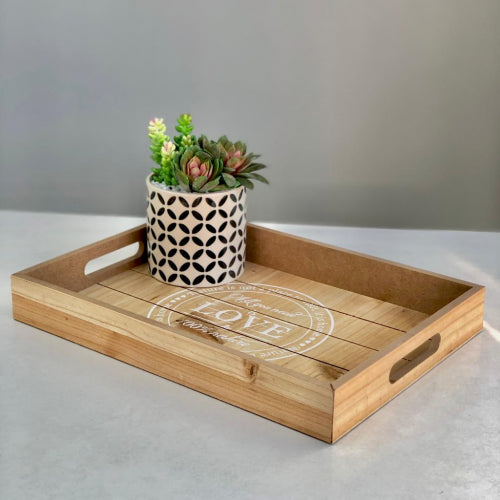Wooden Love Tray Small