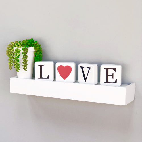 Metallic Love Square Table Art