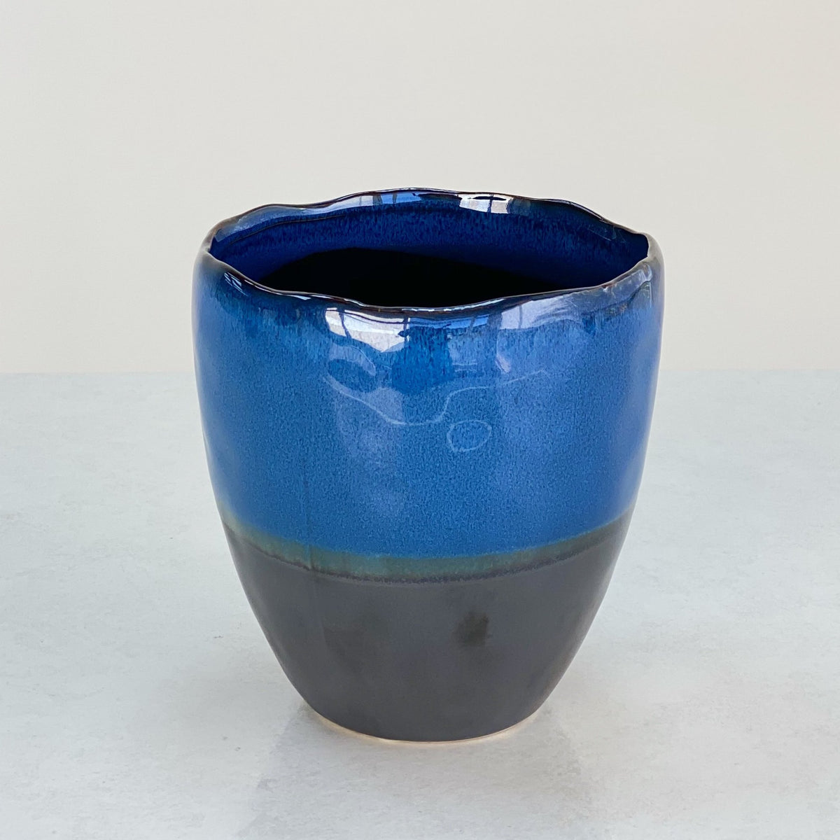 Indigo Ceramic Round Pot