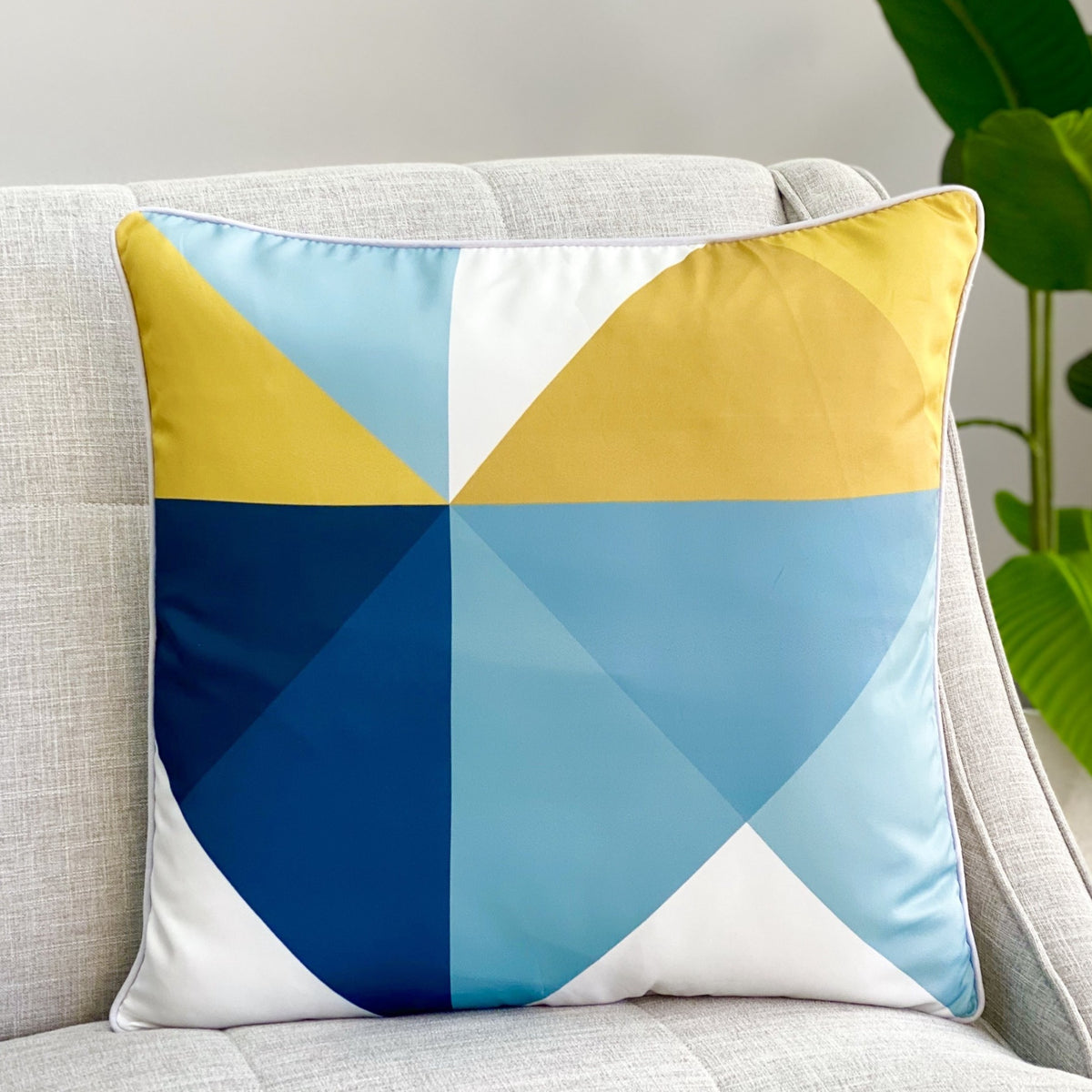 Connected Triangles Pillow