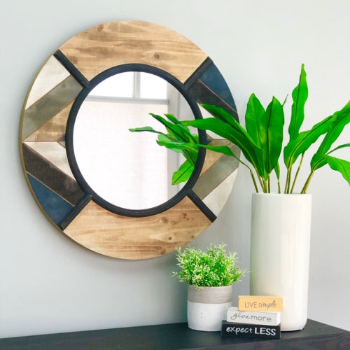 Siham Wall Painted Wood Mirror