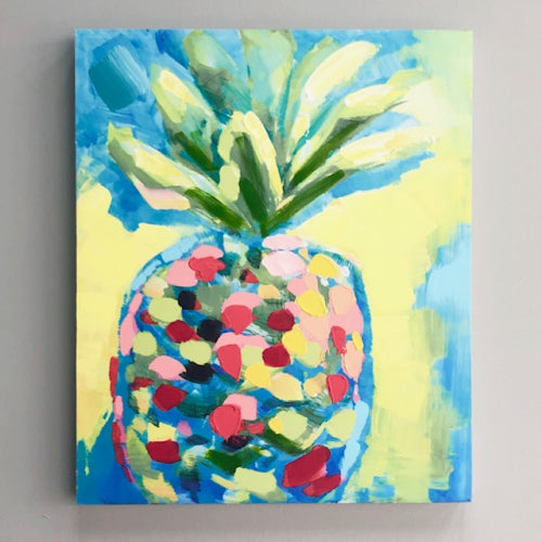 Modern Pineapple POP Canvas Art
