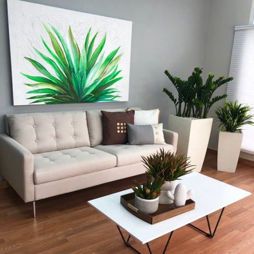 Agave Oleo Wall Canvas Art